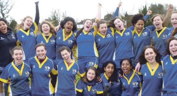 QMBL Women's Rugby tackle Kent