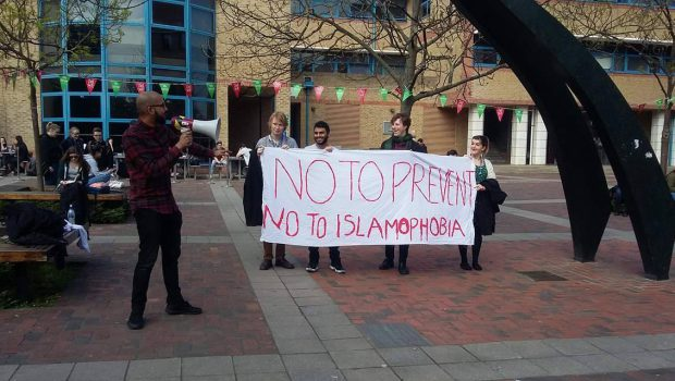 "Queen Mary Against Prevent holds demonstration against government's ""toxic policy"""