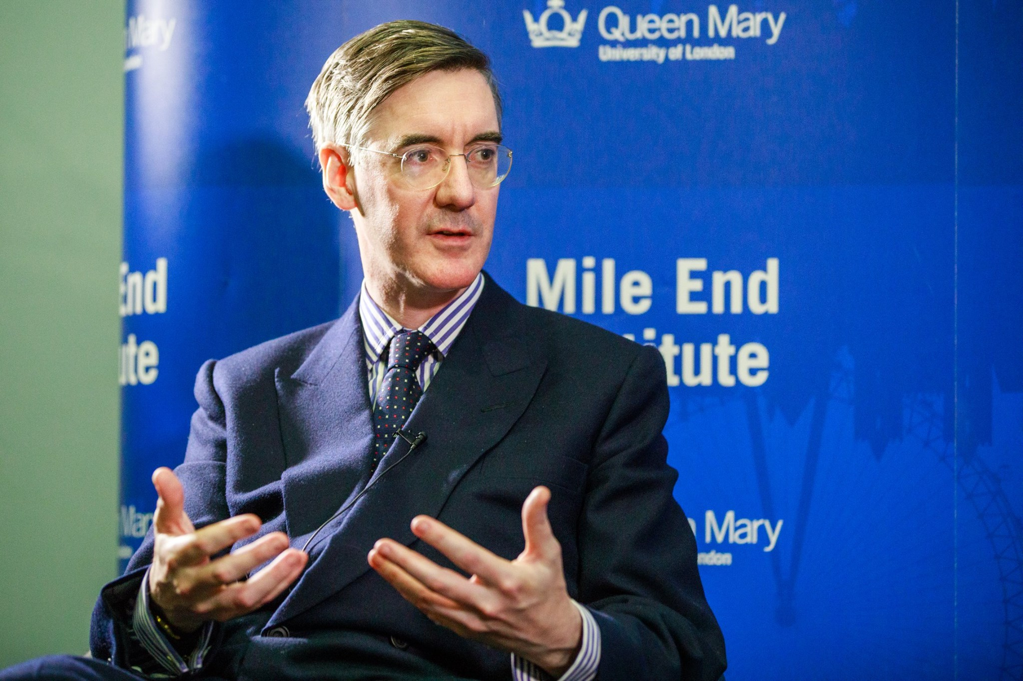 Jacob Rees-Mogg visits Queen Mary